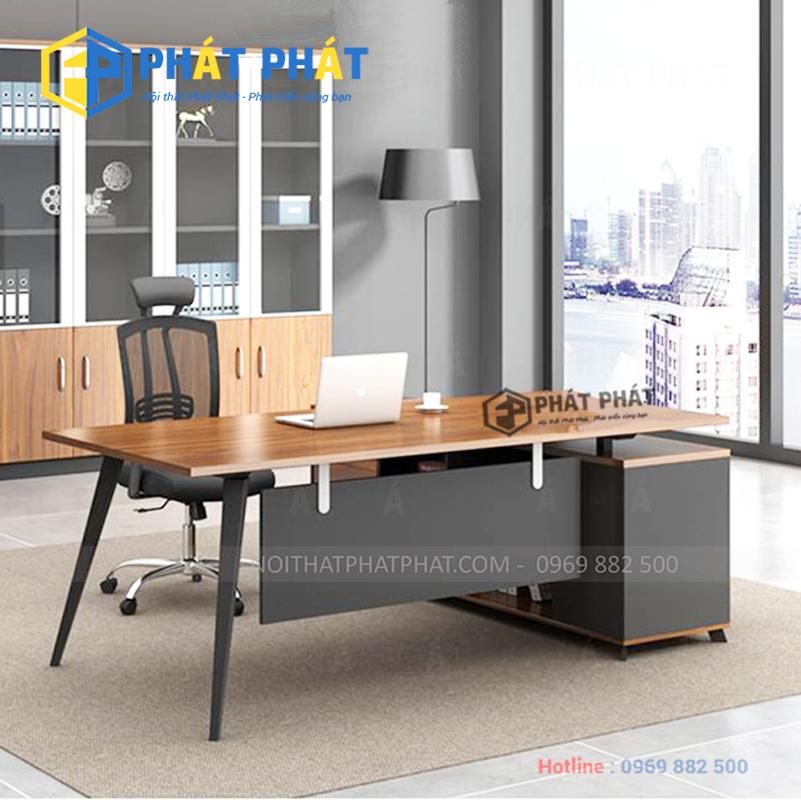 Những mẫu bàn văn phòng chân sắt đẹp và hiện đại - 2