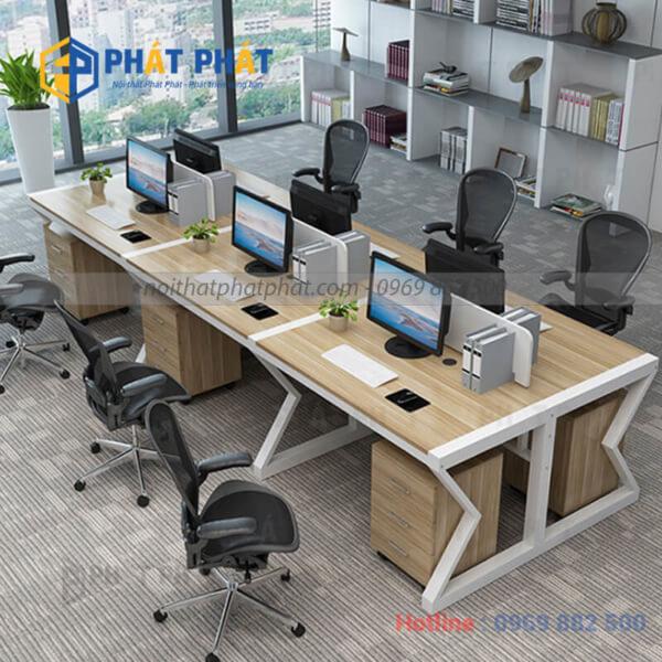 Bàn văn phòng có vách ngăn cải tạo không gian làm việc thêm mới mẻ - 1