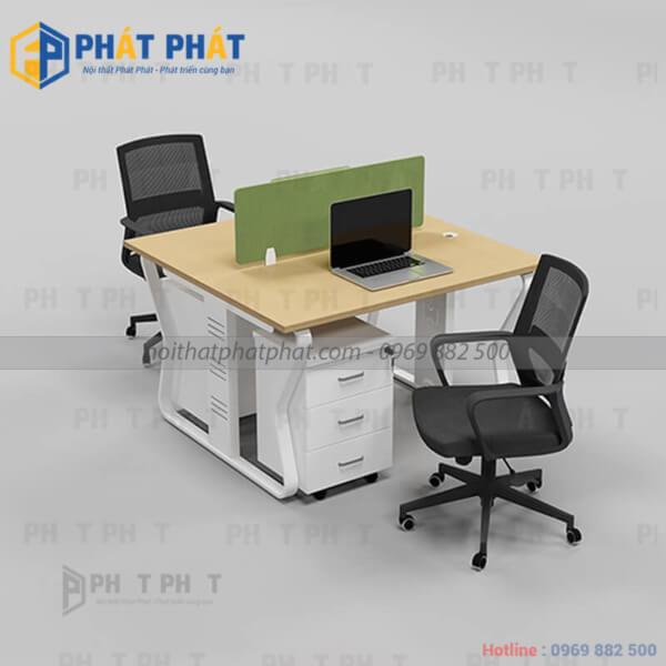 Những mẫu bàn văn phòng chân sắt đẹp và hiện đại- 4